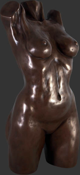 Female Torso Bronze Finish / Fiberglass