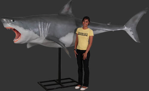 Great White Shark Statue 11 ft.