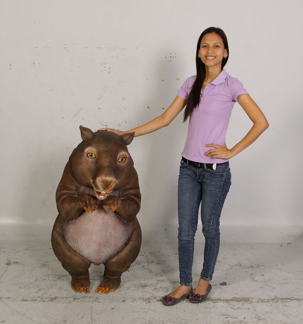 Funny Standing Wombat - Click Image to Close