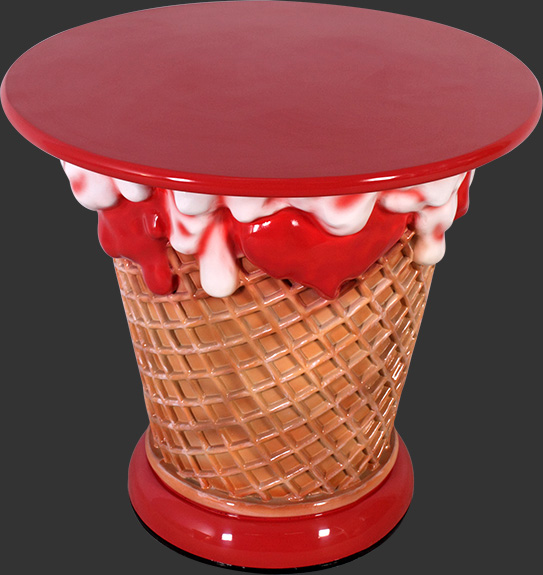 Ice Cream Table - Strawberry