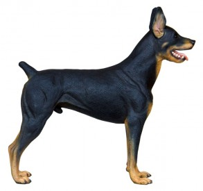 Doberman Statue 3 ft. - Click Image to Close