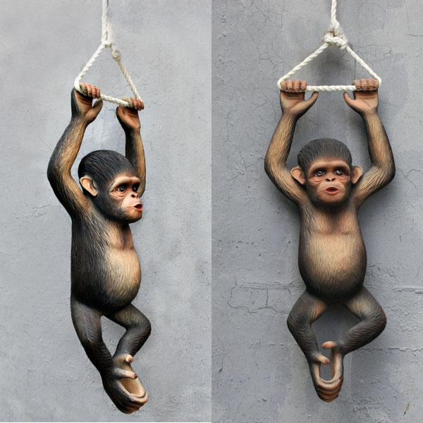 Hanging Chimpanzee 2.5 Ft - Click Image to Close