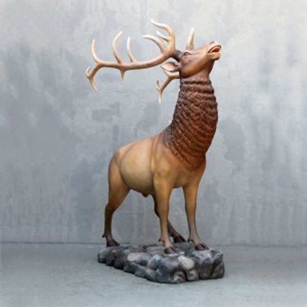 Fiberglass Elk in Natural Color