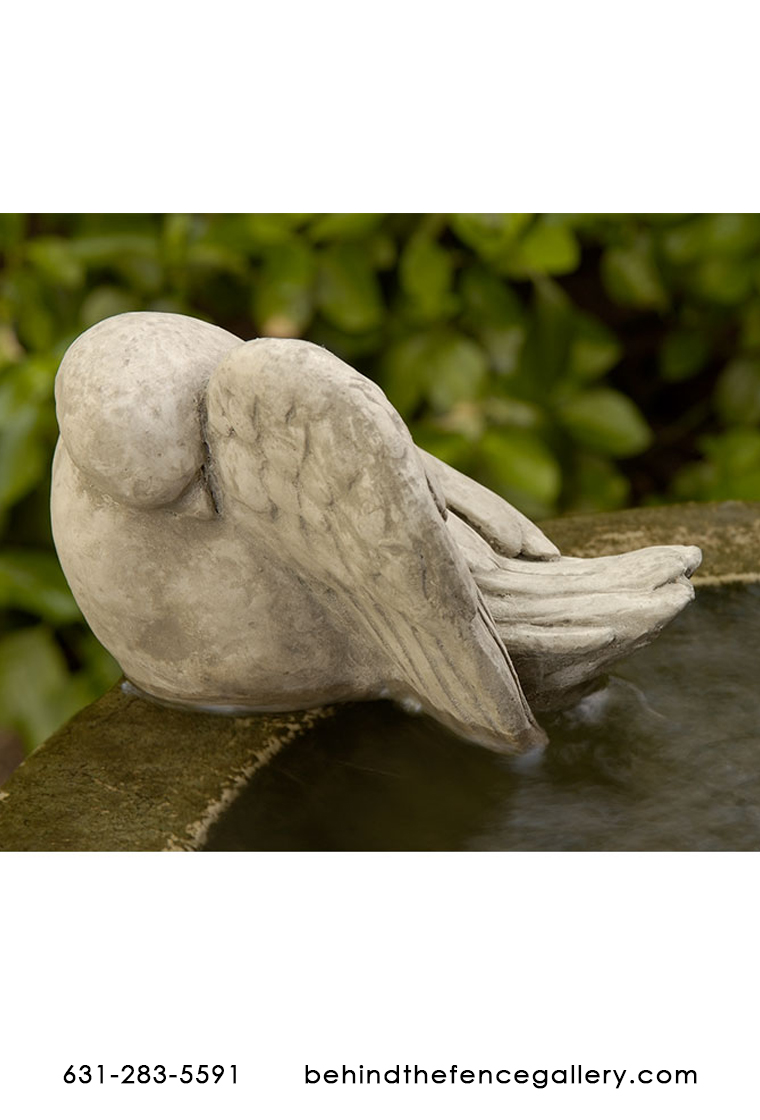 Bathing Dove Bird Outdoor Garden Birdbath Statue