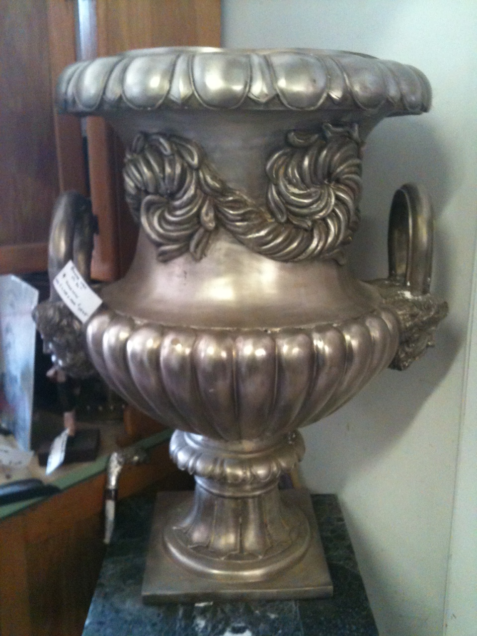 Silver Coated Bronze Urn