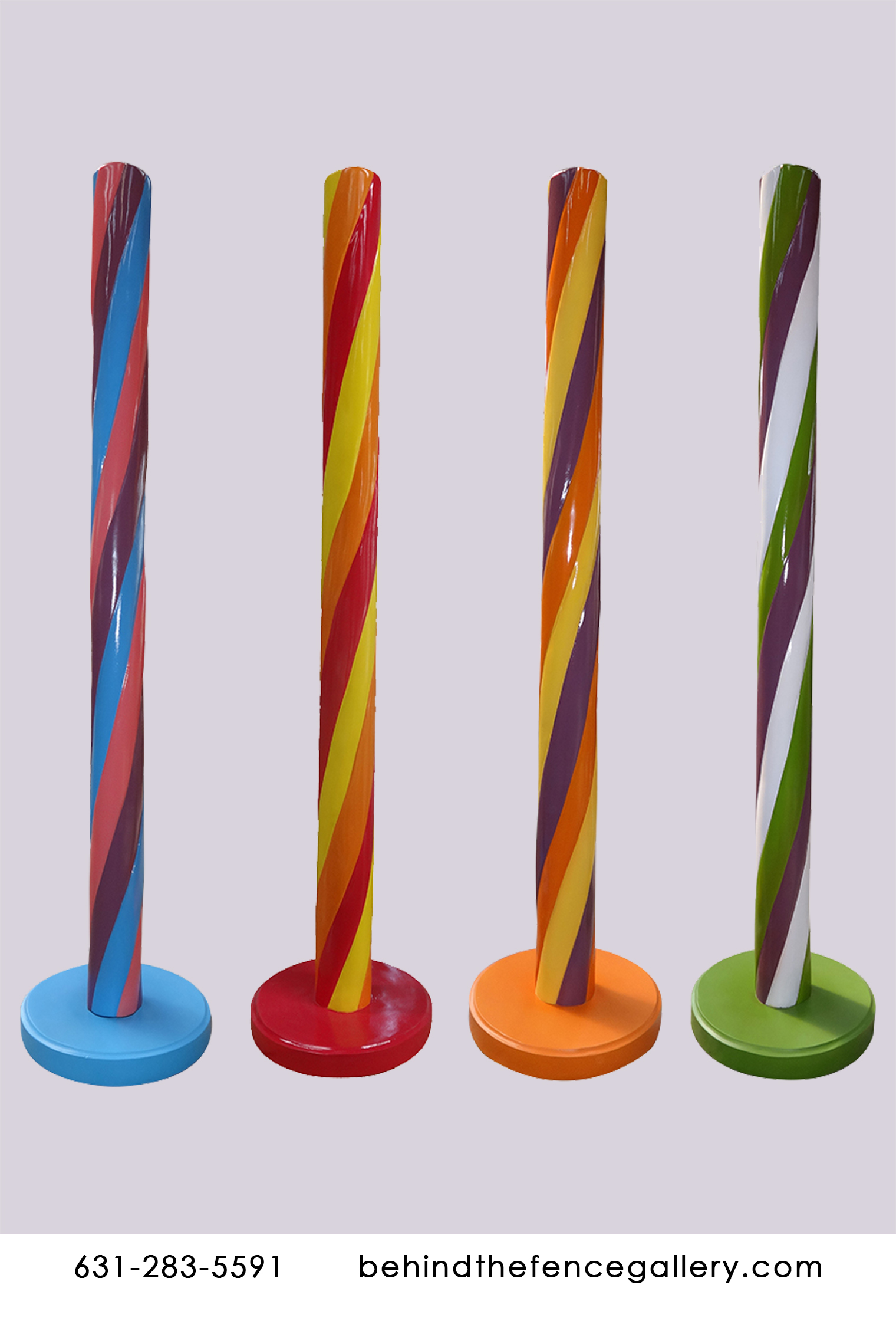 Rainbow Stripe Candy Sticks