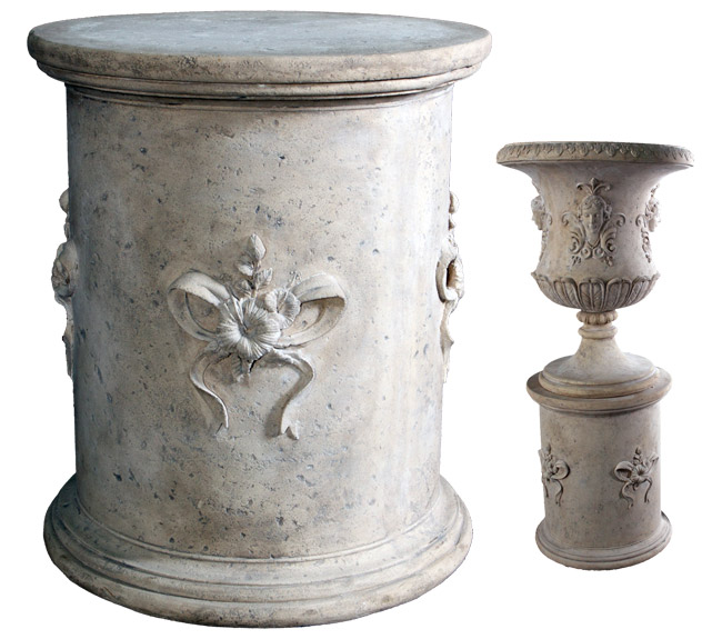 Cylindrical Base with Flowers (Urn not Included)