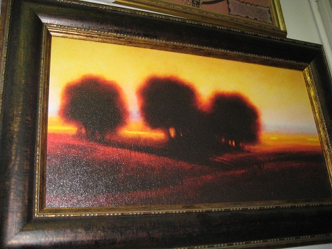 Oil Painting- Trees in Sunset