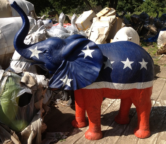 GOP Republican Elephant Statue / Logo