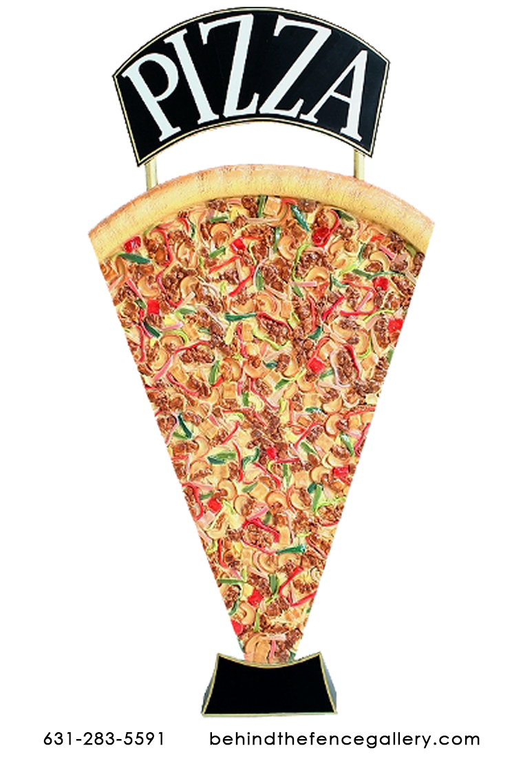 Jumbo Pizza Slice Advertising Sign Sculpture