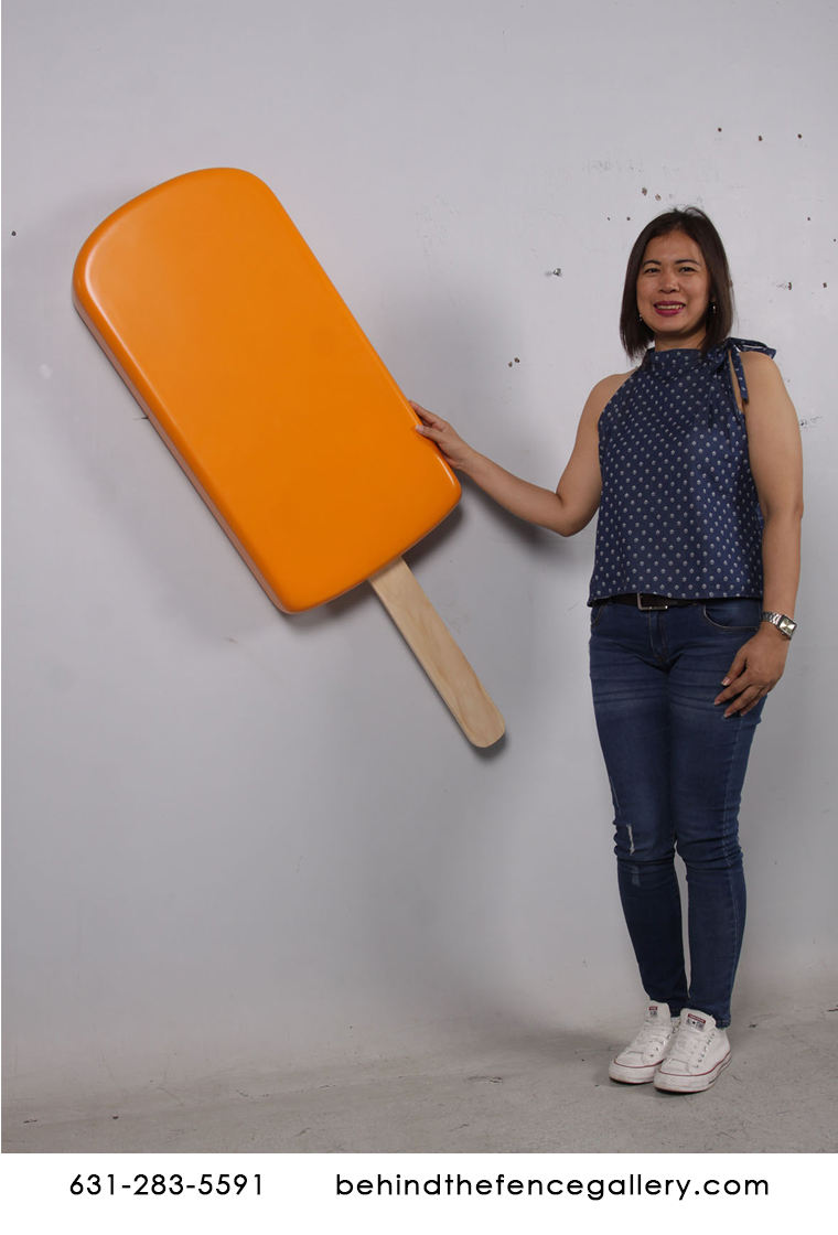 Giant Wall Hanging Orange Ice Cream Popsicle Statue