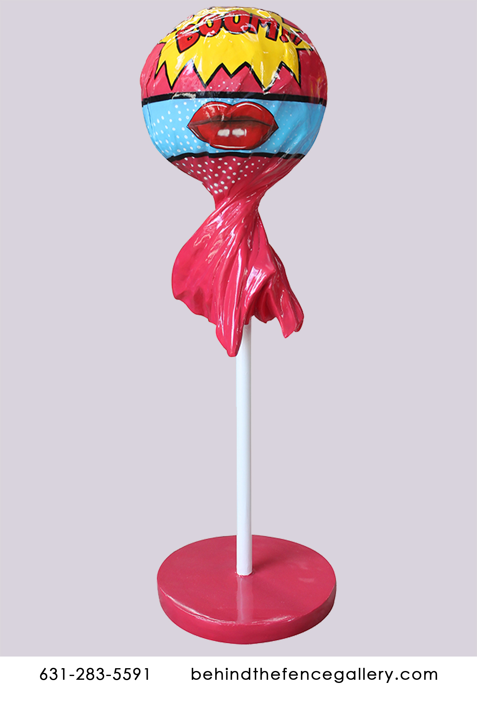 Pop Art Wrapped Lollipop Type 1