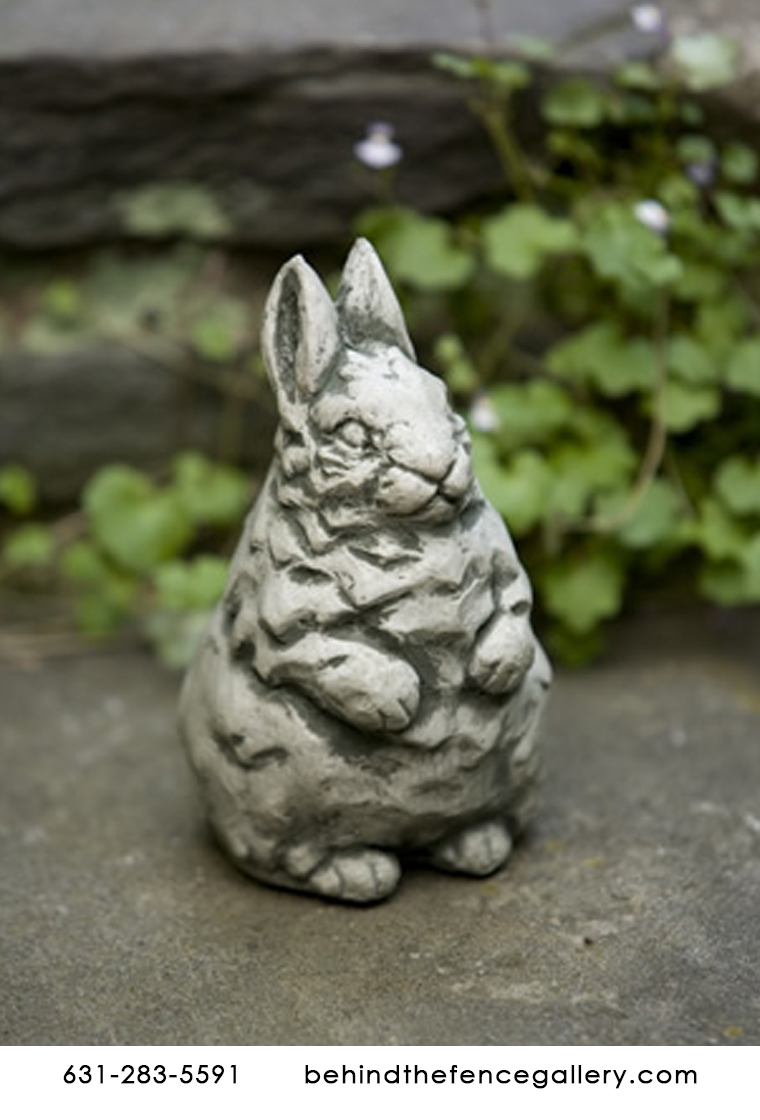 Cast Stone Baby Rabbit Bunny Outdoor Tabletop Statue