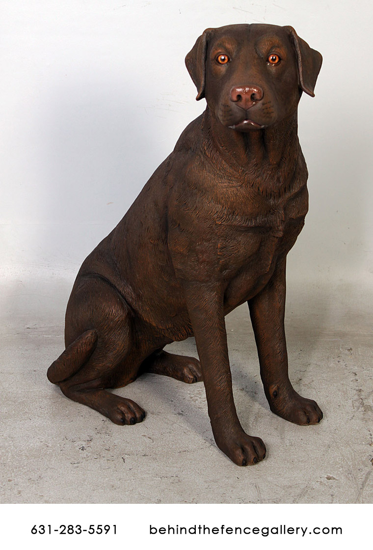 Sitting Brown Labrador Statue