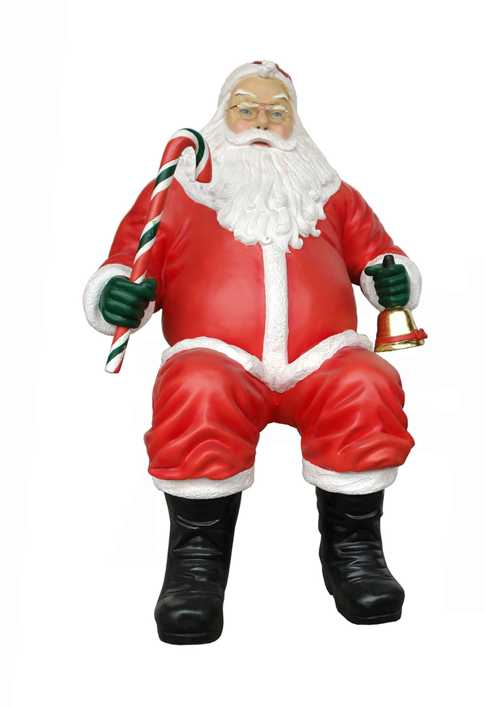Santa Claus with Candy Cane Sitting
