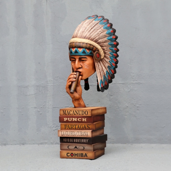 Indian Head on Cigar Boxes
