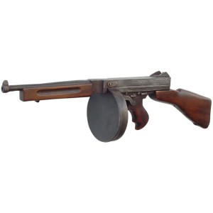 Model Thompson Machine Gun w/ Drum Magazine Replica