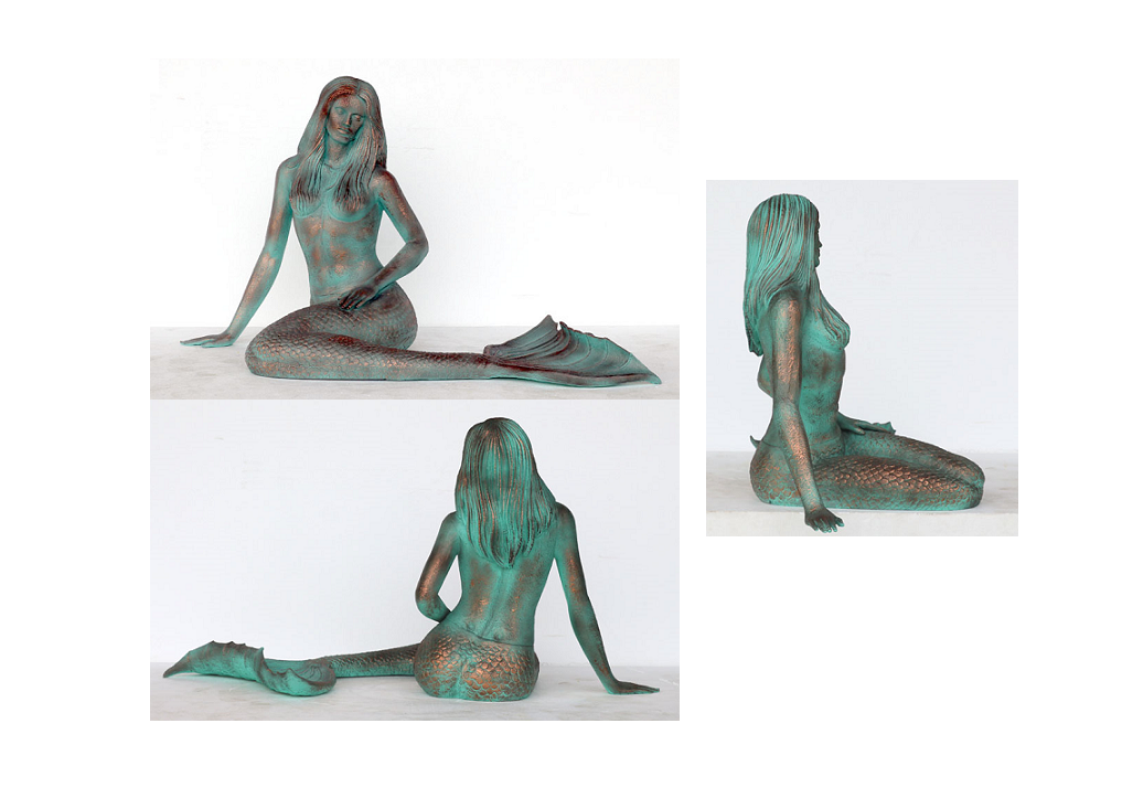 Fiberglass Mermaid Bronze Finish