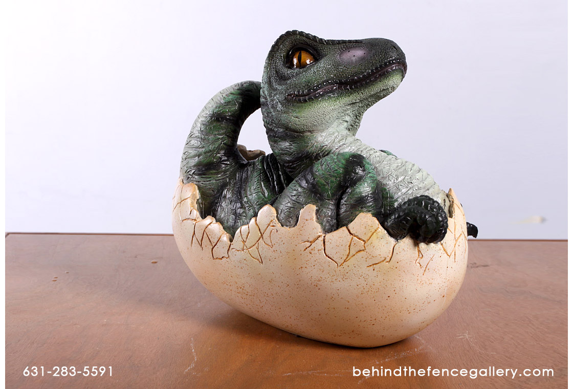 Baby T-Rex Hatching Statue - Click Image to Close