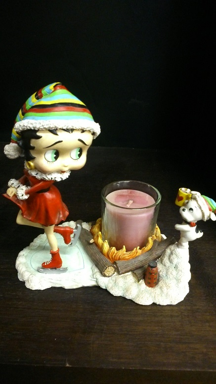 Betty Boop Candlestick - Click Image to Close