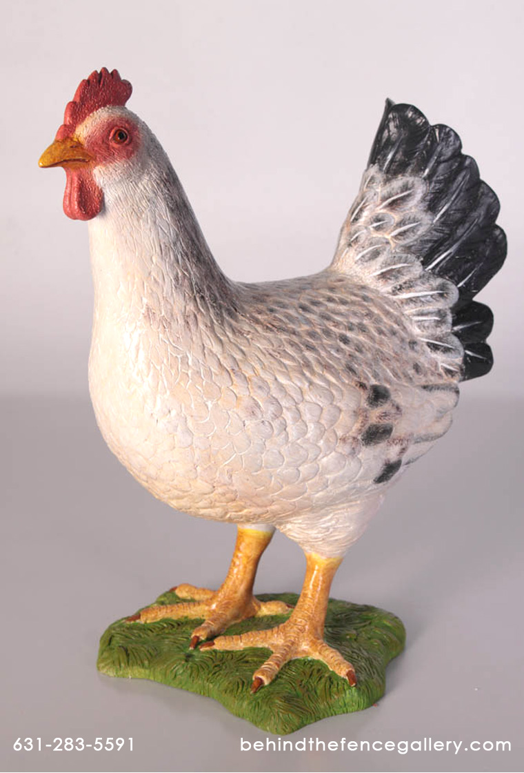 White Hen Statue - Click Image to Close