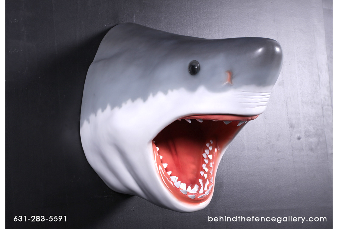 Great White Shark Head Wall Mount