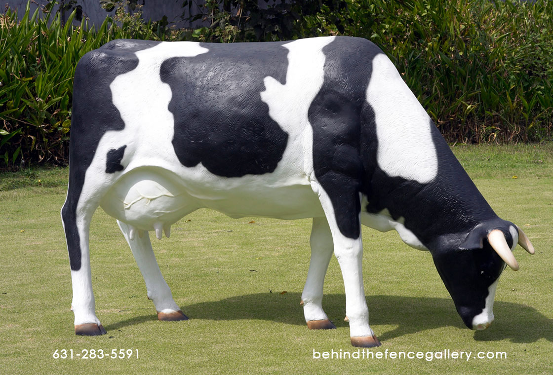 Cow Grazing Statue