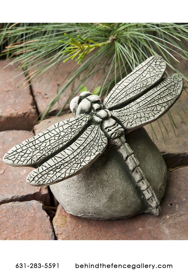Cast Stone Dragonfly Garden Decor statue