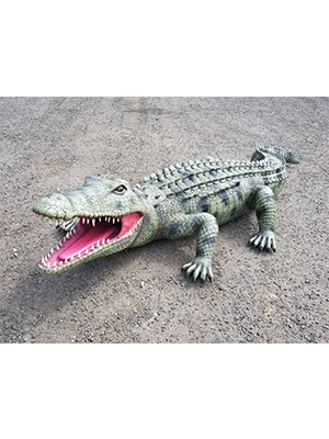 10ft Crocodile with Mouth Open