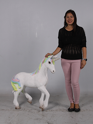 Standing Unicorn - Click Image to Close