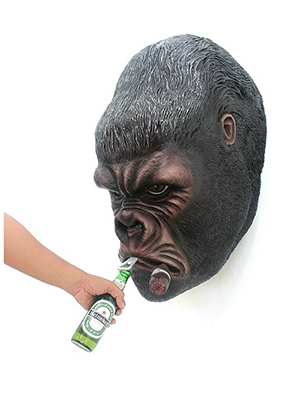 Gorilla Bottle Opener Wall Mount