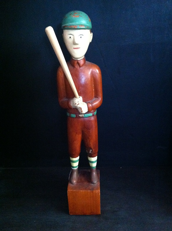 Wooden Baseball Player