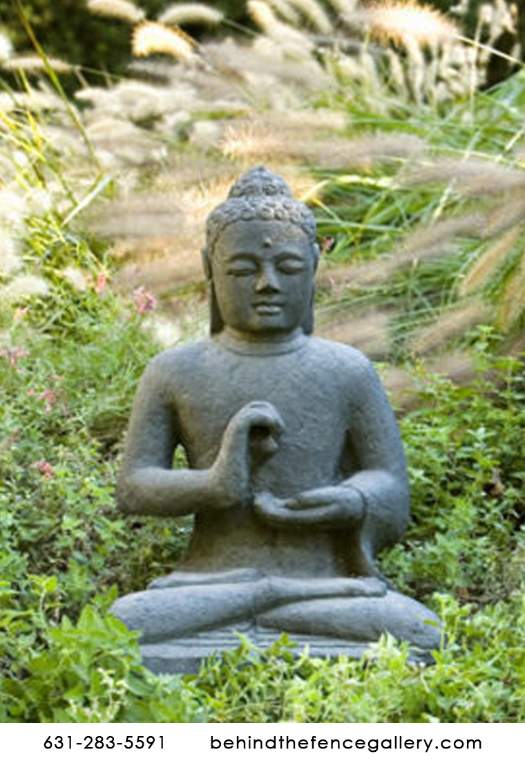 Indonesian Seated Buddha Stone Statue