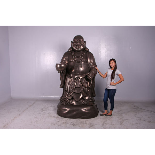 Hotei, the Laughing Buddha in Bronze Finish