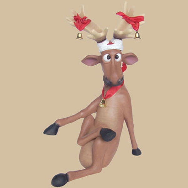 Christmas Reindeer Sitting with Crosslegs