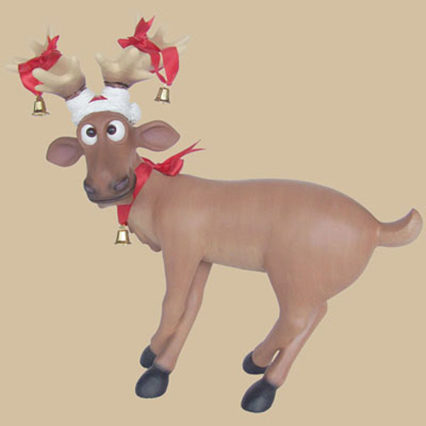 Funny Reindeer Standing on Crosslegs (Mini)