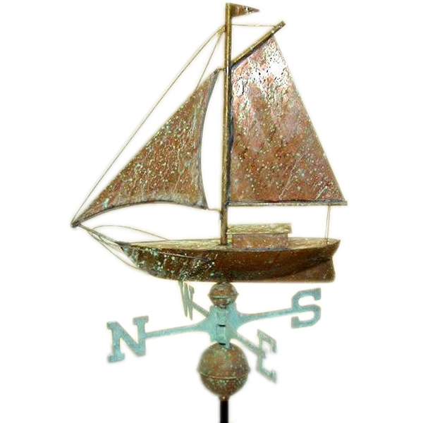 Sailboat Weather Vane - Click Image to Close