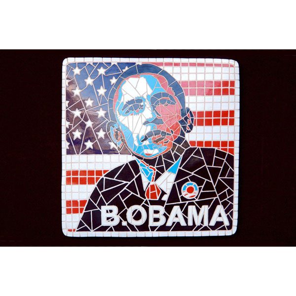 Barack Obama in Mosaic Decor