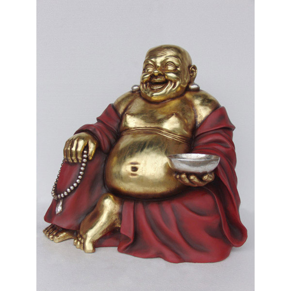 Buddha Sitting-Red and Gold