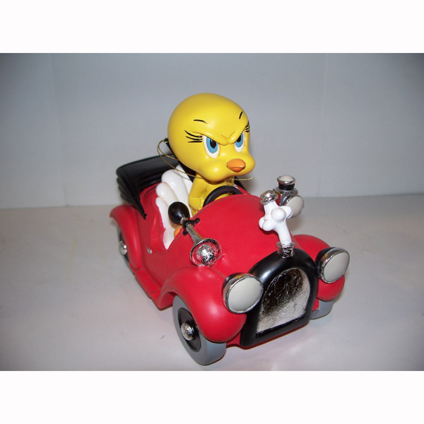 Angry Tweety Bird Driving Car