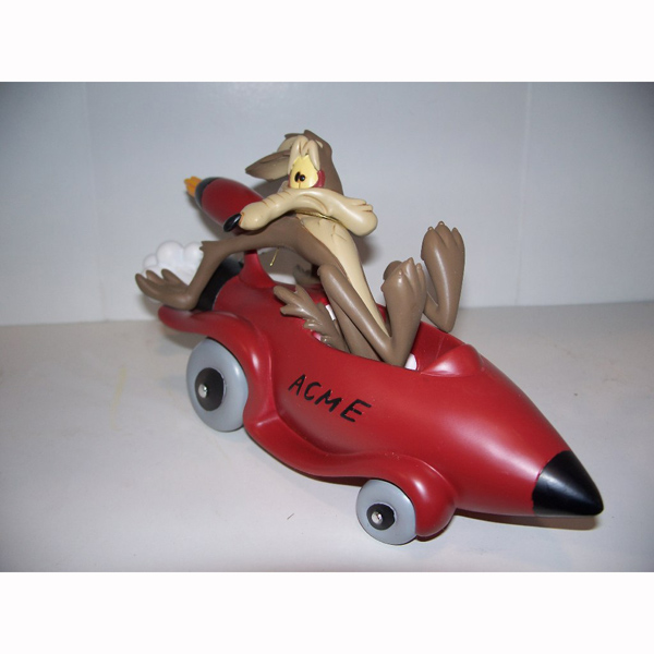 Wyle Coyote in a Rocket Car