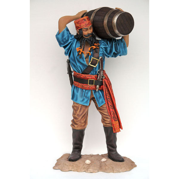 Chinese Pirate with Barrel