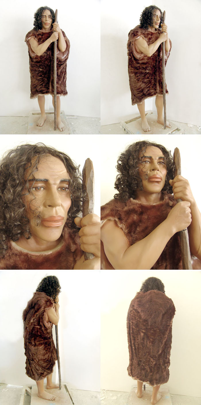 Life Size Prehistoric Cave Man Statue