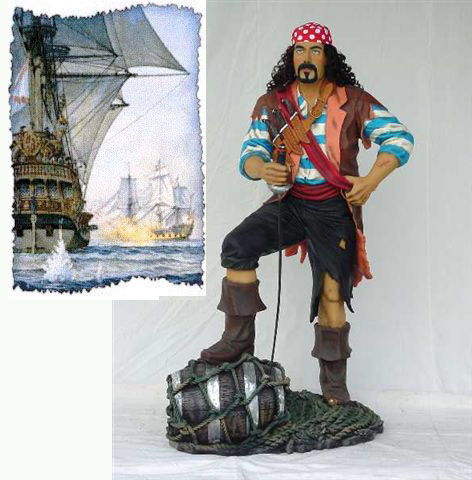 Pirate Life-Sized Statue