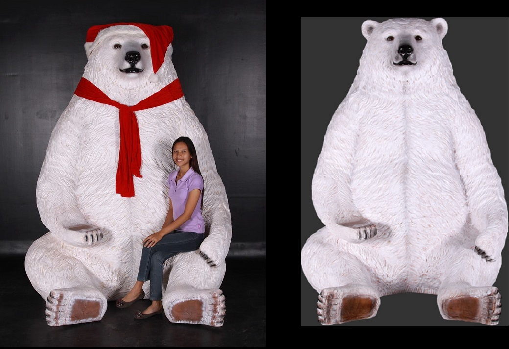 Sitting Christmas Polar Bear 7.5 Ft.