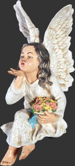 Fairy blowing a kiss / Fiberglass