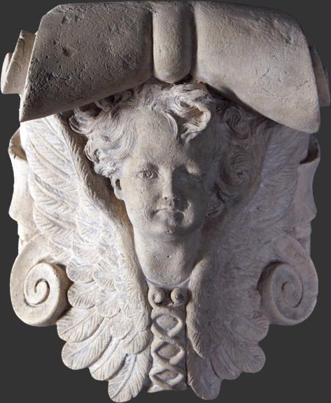 Angel Wall Bracket Roman Stone Finish / Fiberglass