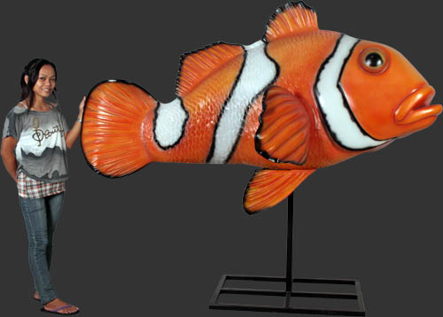 Clownfish On Metal Stand
