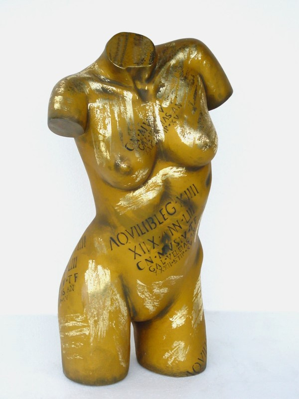 Torso Female Gold Finish