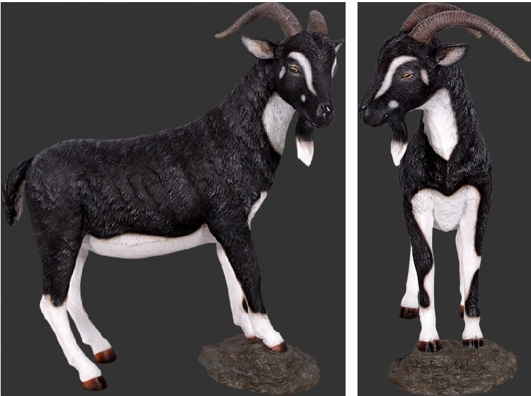 Billy Goat Statue / Black and White